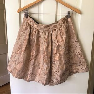 Banana Republic Rose Gold Metallic Mini Skirt